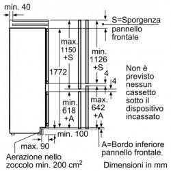 siemens Frigorifero combinato Sistema noFrost porta con cerniera piatta,KI39FP60