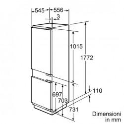 siemens Frigorifero combinato Sistema noFrost porta con cerniera piatta, KI34NP60