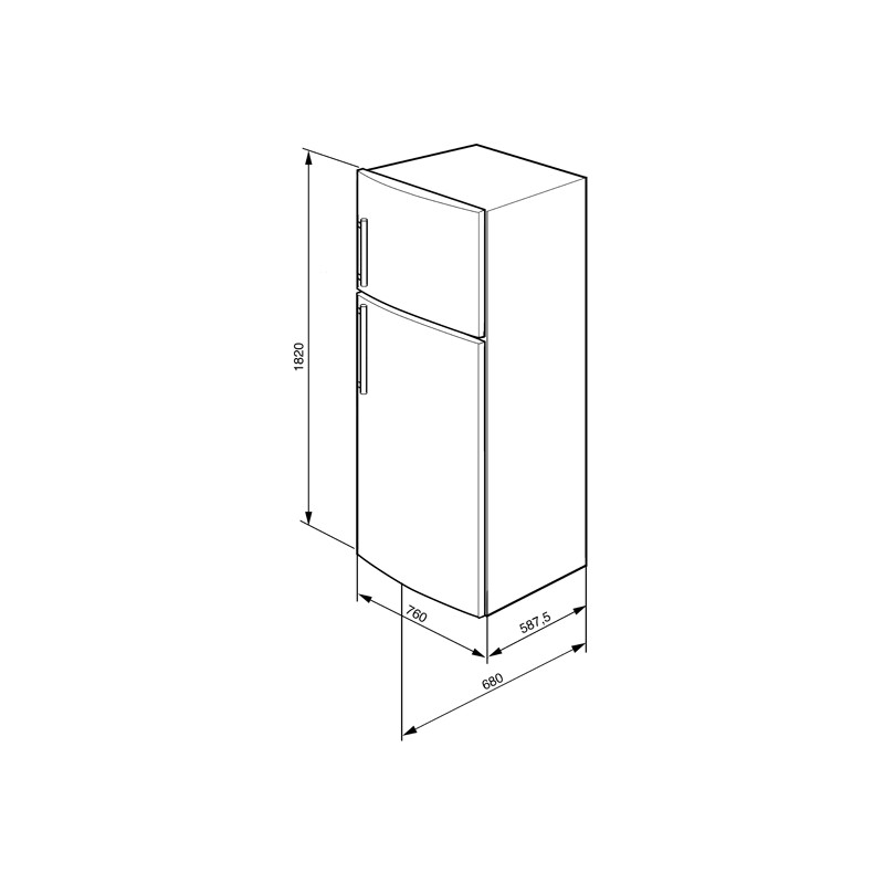 smeg fd481mn4 frigorifero due porte 76 cm frigoriferi dueg store vendita a prezzi scontati