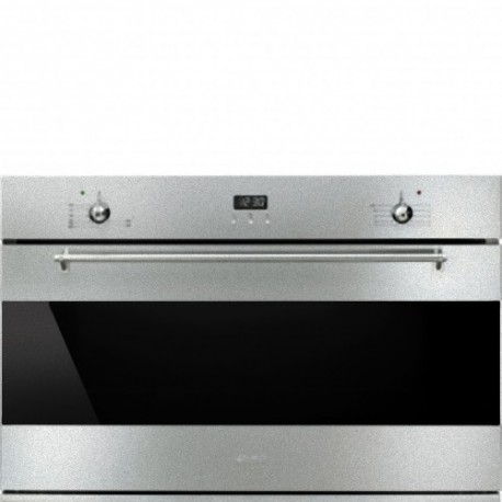 smeg SE901GX Static gas oven, 90 cm, stainless steel