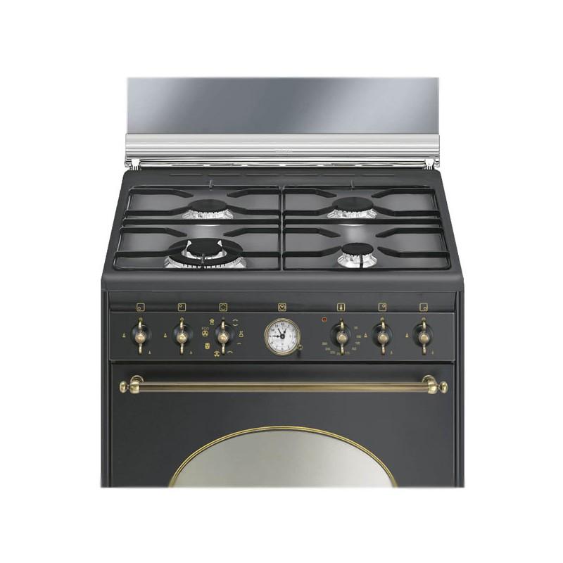 Smeg co68gma8 cucina coloniale antracite 60x60 cm - Cucina coloniale ...