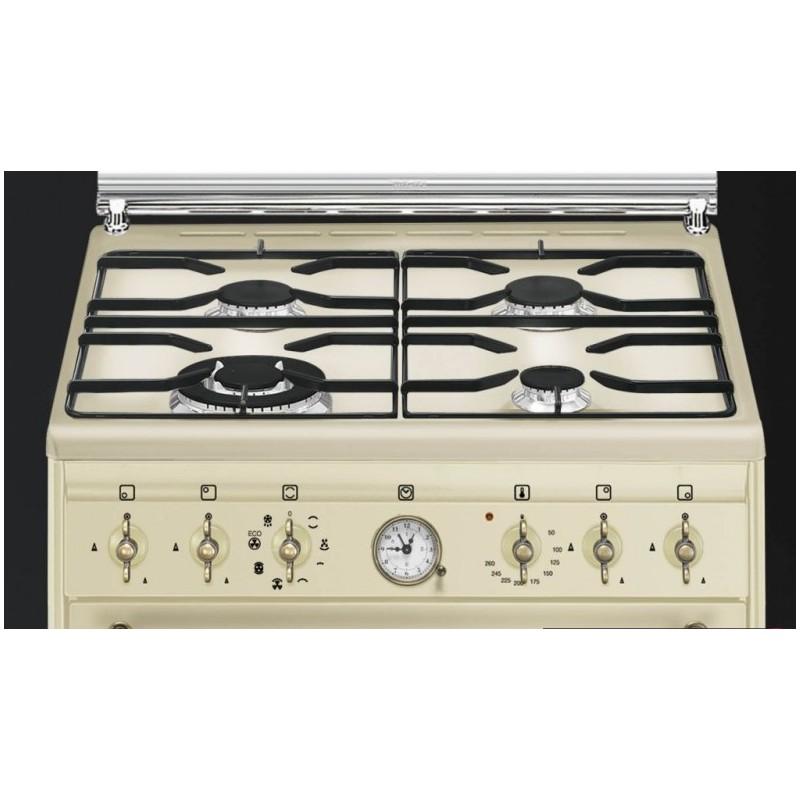 Smeg co68gmp9 cucina coloniale panna 60x60 cm cucine a - Cucina coloniale ...