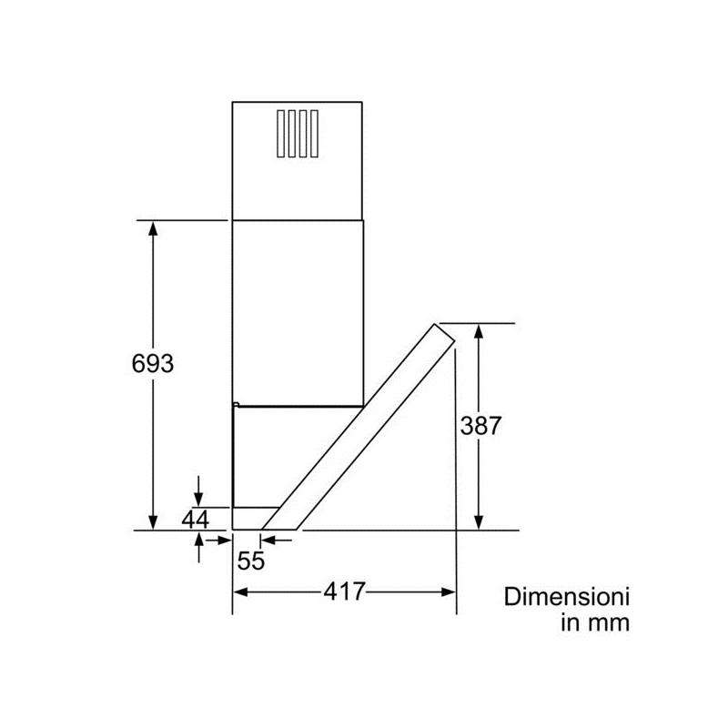 Bosch dwk097e50 cappa aspirante per montaggio a muro 90 cm - Montaggio cappa cucina ...