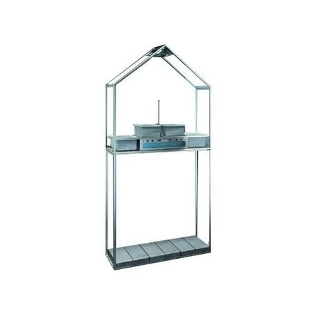 Smeg P-SDP20 Piedistallo in acciaio inox per Serra Domestica con 6 contrappesi in ghisa - Dueg Store