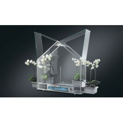 Smeg SDP20 Serra domestica Piano Design in Vetro e Acciaio Temperato con luci e nebulizzatore