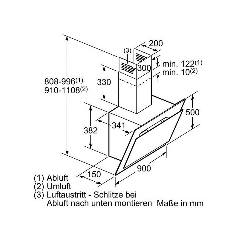 bosch umluft w v wie bosch siemens with bosch umluft cool umluft kopffrei einbau dunstabzug cm. Black Bedroom Furniture Sets. Home Design Ideas
