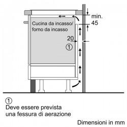 neff T55T95X2 Piano Doppia FlexInduction, 90 cm twist pad  filo top