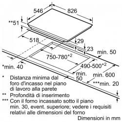 neff Piano FlexInduction, 60 cm induzione T55T55X2