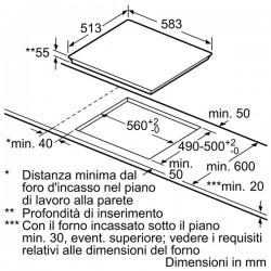 neff t46bt60n0 Piano induzione, 60 cm twist pad