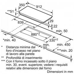 siemens EH975ME11E Piano cottura ad induzione 90 cm - vetroceramica Profili laterali in acciaio inox