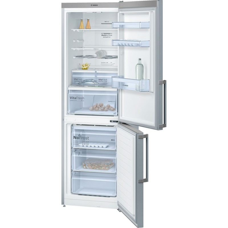 bosch kgn36xl35 Frigo-congelatore da libero posizionamento Inox look
