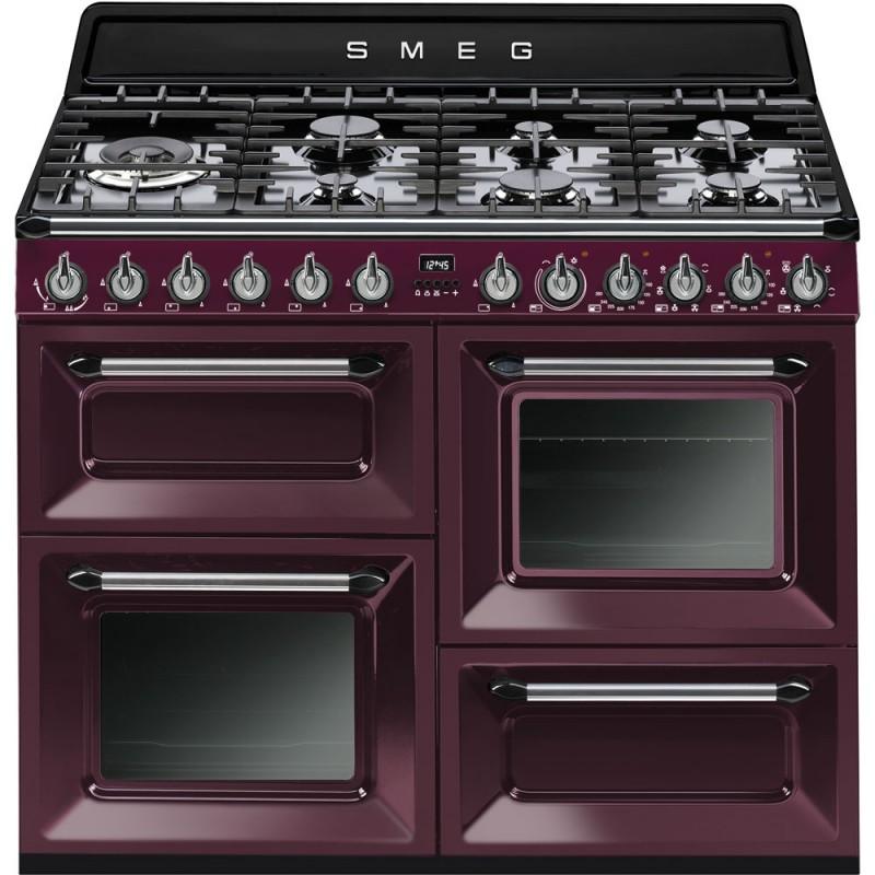 smeg Cucina Victoria, red wine, 110x60 tr4110rw1 - Cucine a Gas ...