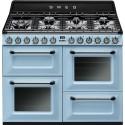 smeg TR4110AZ Cucina Victoria, azzurra, 110x60