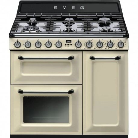"smeg TR93P Victoria"" Dual fuel 3 cavity Cooker with Gas hob"
