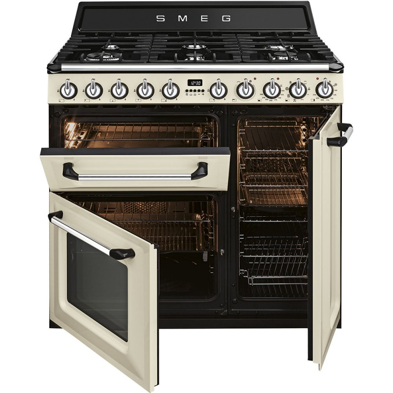 smeg TR93P Cucina Victoria, panna, 90x60. Classe energetica A ...