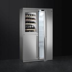 smeg wf354lx Freistehende Kombinations-Wein-Kühler