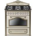 smeg CC9GPO Cucina Cortina 90x60 cm, panna / ottone. Classe A,