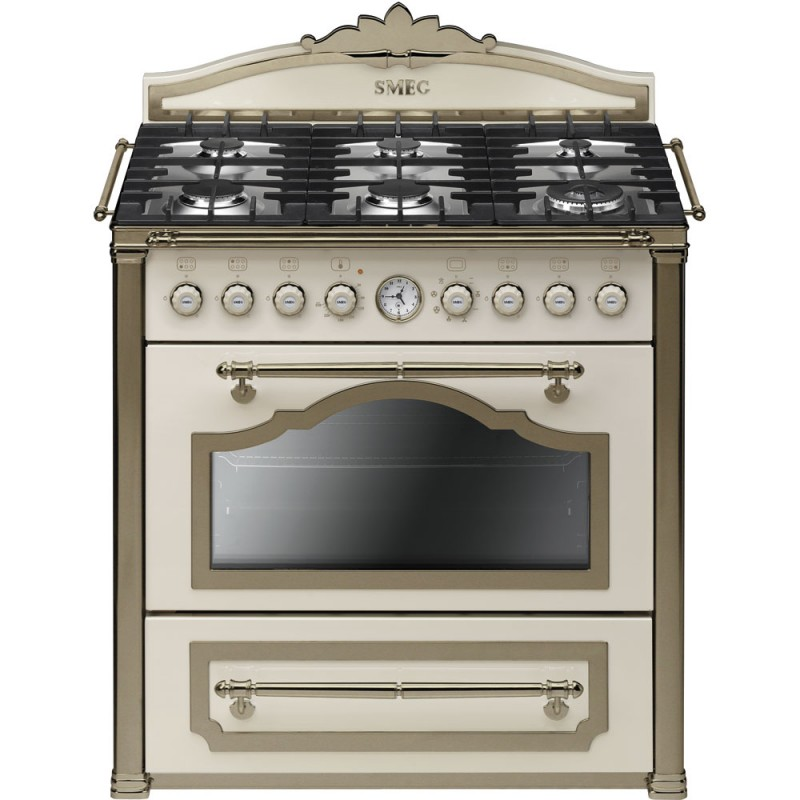 smeg CC9GPO Cucina Cortina 90x60 cm - Cucine a Gas - Dueg Store ...
