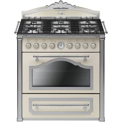 smeg CC9GPX Cucina Cortina 90x60 cm, panna / silver