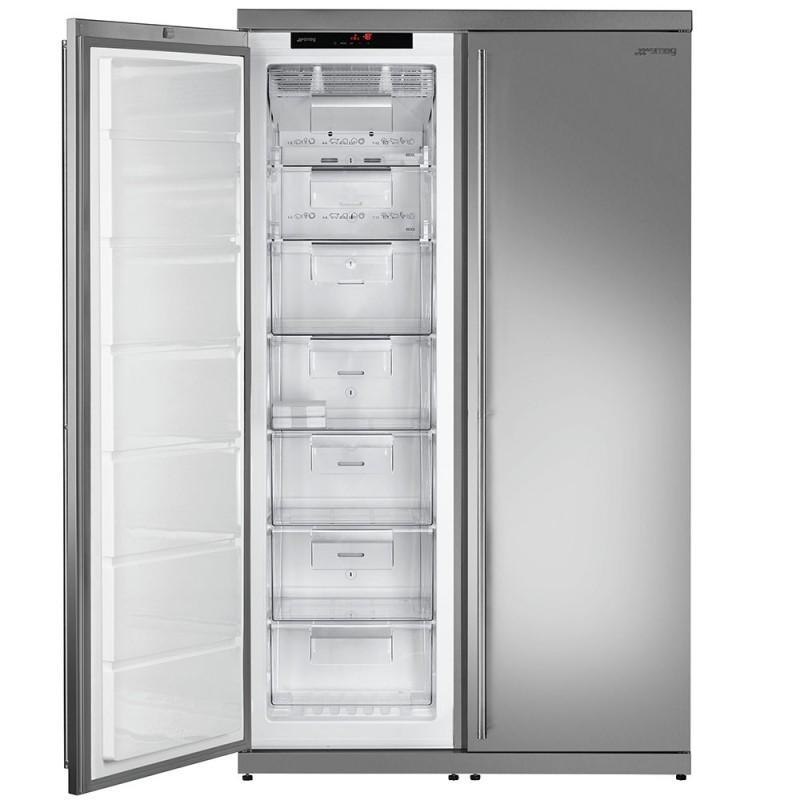 Smeg ff354lx congelatore verticale monoporta acciaio inox for Congelatore verticale a