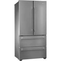 smeg FQ55FX1 French Door Refrigerator with 2 doors and 2 drawers