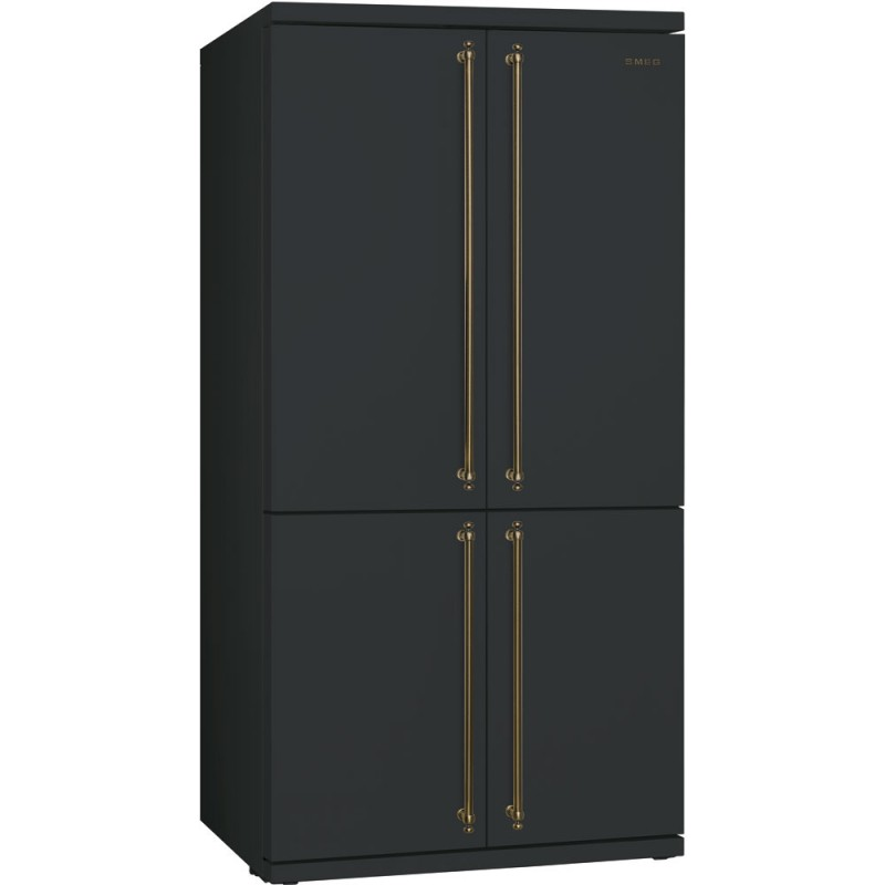 smeg fq60cao refrigerator freezer 4 doors anthracite. Black Bedroom Furniture Sets. Home Design Ideas