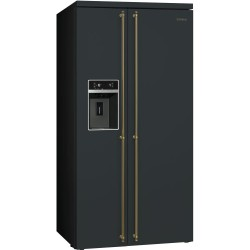smeg sbs8004ao Refrigerator Colonial Side-by-Side, 90cm, anthracite