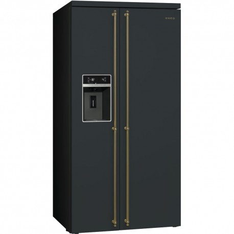 smeg sbs8003ao Refrigerator Colonial Side-by-Side, 90cm, anthracite
