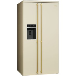 smeg sbs8004p Refrigerator Colonial Side-by-Side, 90cm, cream