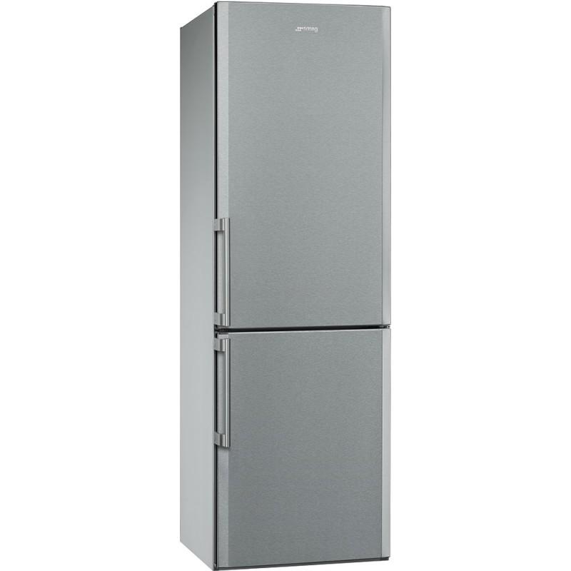smeg fc370x2pe Kühlschrank mit Gefrierfach, 60 cm, Edelstahl Anti ...
