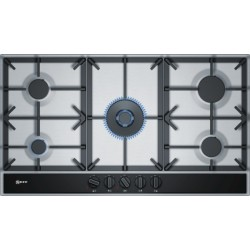 neff T29DA69N0 90 cm, Gas hob with integrated controls, Stainless steel
