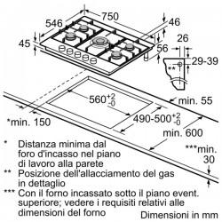neff T67S76N1 Piano a gas in vetroceramica, 70 cm