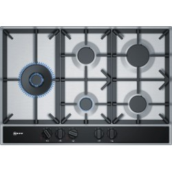 neff T27DA79N0 75 cm, Gas hob with integrated controls, Stainless steel