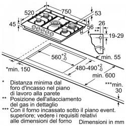neff t26s56n0 piano inox 70 cm