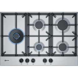 neff T27DS79N0 75 cm, Gas hob with integrated controls, Stainless steel