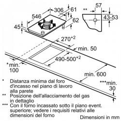 domino gas vetroceramica N24K35N0