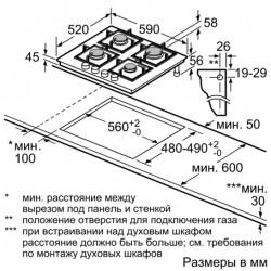 bosch  PPP616B21E Piano gas cristallo nero 60cm,