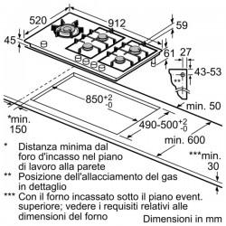 SIEMENS ER926SB70E PIANO INC 90 CM VETROCERAMICA GAS