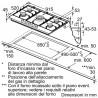 siemens  EC945RB91E Piano gas 5 fuochi 90cm griglie in ghisa acciaio inox