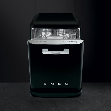 smeg LVFABBL Stand dishwasher, 50 'retro style