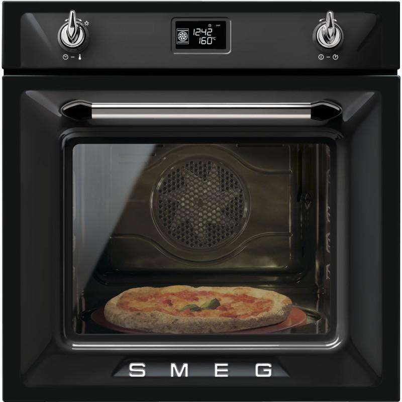 smeg sfp6925xpze1 Forno pizza termoventilato, pirolitico, 60 cm,nero