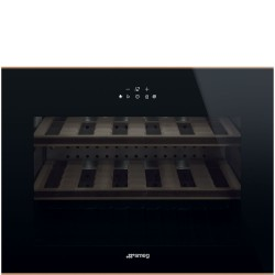 smeg CVI618NRS Cantina vetro nero, H 45 cm, Estetica Dolce Stil Novo