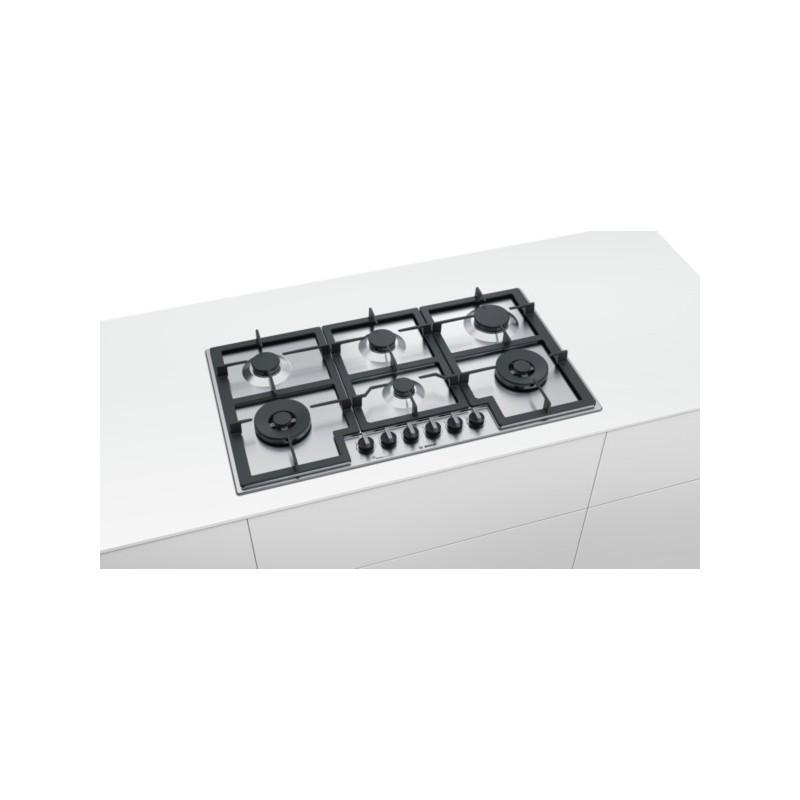 bosch pct9a5b90 Piano cottura a gas 90cm acciaio inox - Piani ...