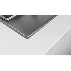bosch PCQ7A5B90 Piano cottura 75 cm inox griglie ghisa acciaio inox