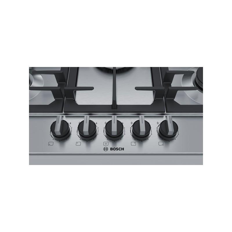 bosch Piano cottura 70cm. inox -griglie ghisa acciaio inox PCQ715B90E