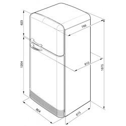 smeg FAB50B Deux porte-50s réfrigérateur, blanc