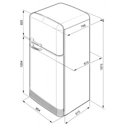smeg FAB50BS Zweitürigen Kühlschrank 50er, weiß
