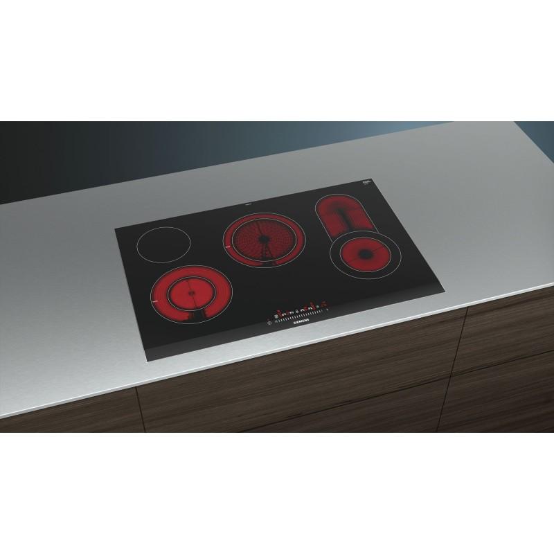 siemens et875fcp1dvetroceramica 80 cm profili laterali acciaio inox. Black Bedroom Furniture Sets. Home Design Ideas