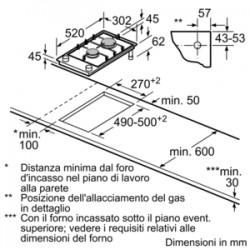 siemens  ER326BB70E PIANO INC 30 CM VETROCERAMICA GAS