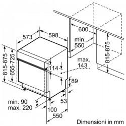 Lavastoviglie 60 cm integrabile nera S41N53S2EU